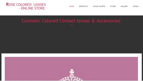Rose Colored Lenses - uKit Website Examples