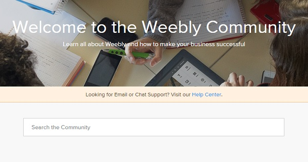 Weebly Community