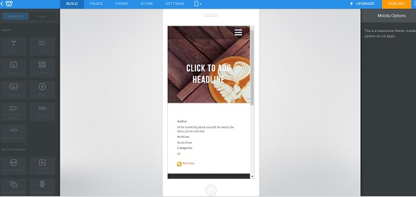 Weebly Mobile Editor