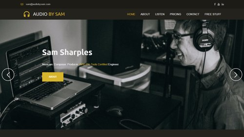 Audio by Sam- uKit Website Examples