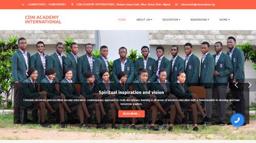 CDM Academy - uKit Website Examples