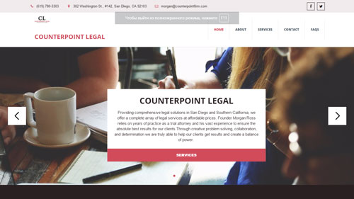 Counterpoint Legal - uKit Website Examlpes