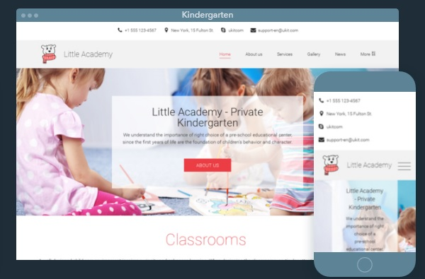 Kids Website Powered By UKit