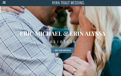 Weebly Wedding Website Example - Eric & Erin