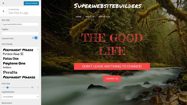 boldgrid.com - customize the theme