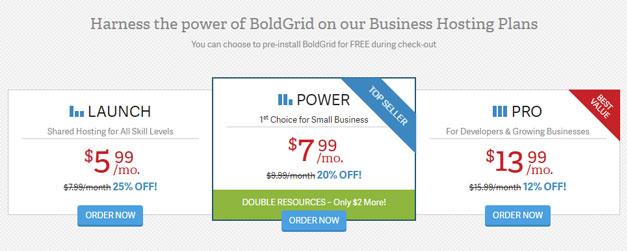 boldgrid pricing