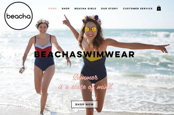 Beacha Swimwear - Wix eCommerce Examples