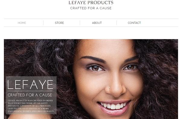 Lefaye Products- Wix eCommerce Examples