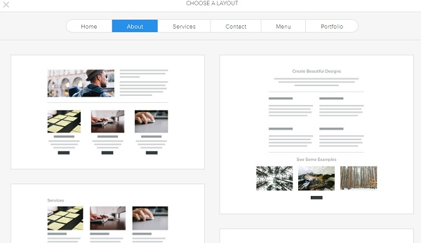 Weebly Layout