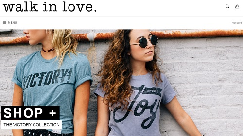 Shopify Webstore Examples - Walk in Love