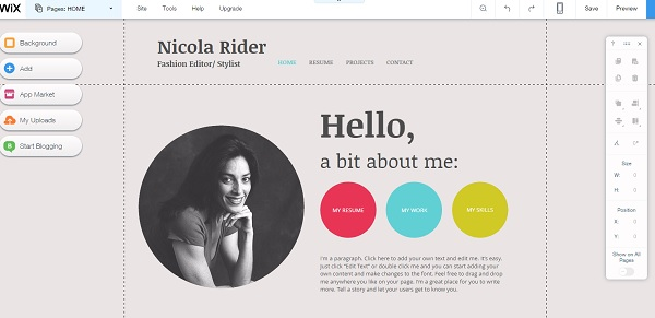 Wix Portfolio Website Builder