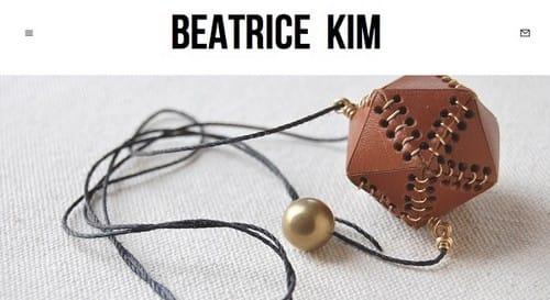 Squarespace eCommerce examples - Beatrice Kim