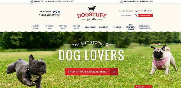 Dogstuff - Volusion Store Examples