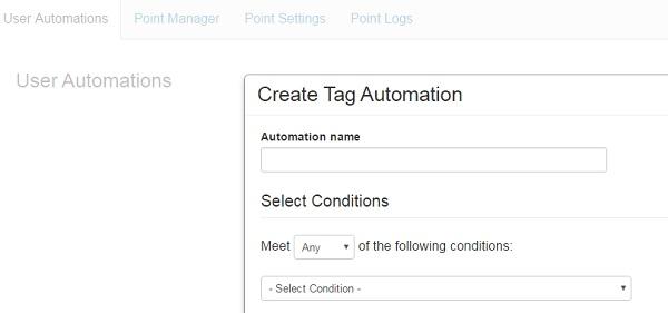 Enjin Website Builder - DashBoard - Automations