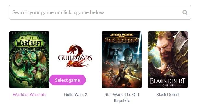 Enjin Website Builder - Select a Game