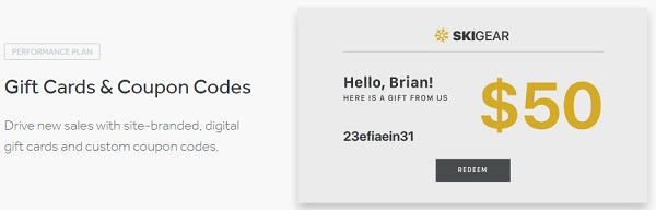 Weebly 4 eCommerce Gift Cards