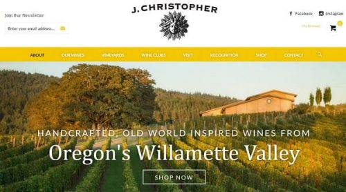 J. Cristopher Wine - Volusion Store Examples