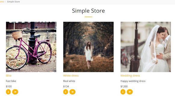 Site123 SimpleStore