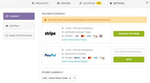 Strikingly eCommerce