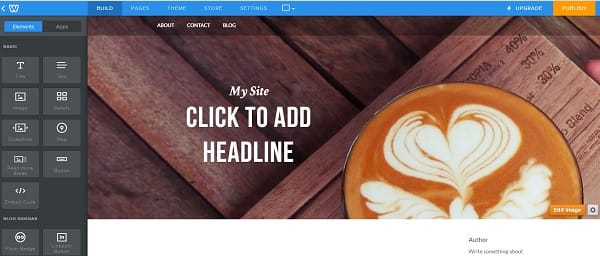 Weebly Drag&Drop Editor