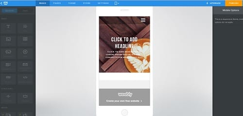Weebly Mobile View