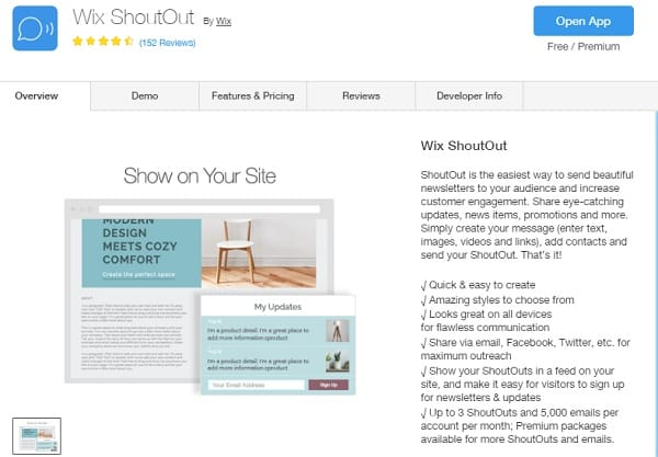 Wix ShoutOut - Wix Website Builder