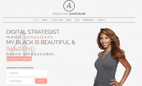 Wix Blogs Examples - Angelina Darrisaw