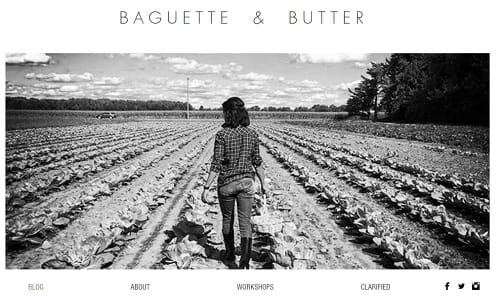 Wix blogs examples - Baguette and Butter