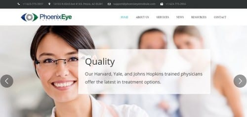 Phoenix Eye Institute - uKit sample site