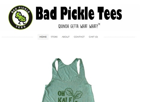 Bad Pickle Tees - screenshot