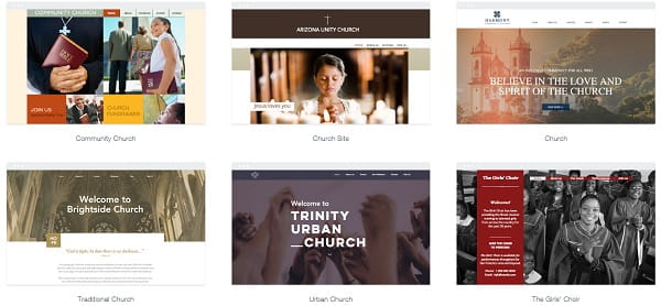 Church website - simple design