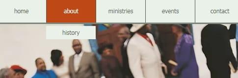 Church website - simple navigation