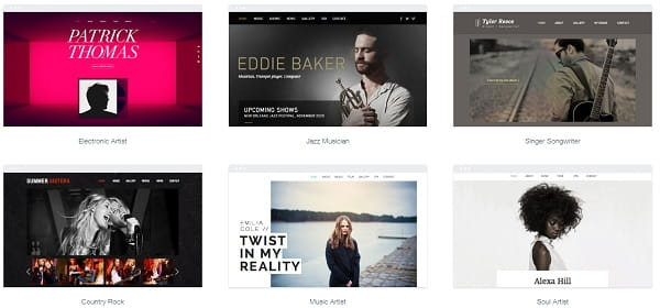 Wix Musician Templates
