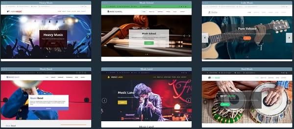 uKit Musician Templates