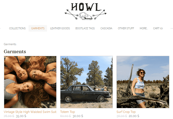 Weebly Sample Site - Howl
