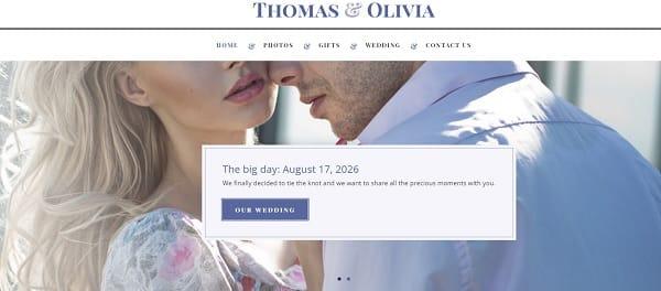 uKit Wedding Website Template