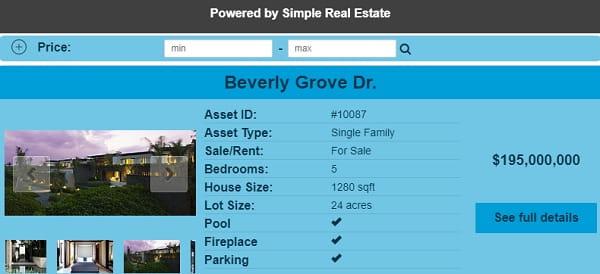 Wix Real Estate App