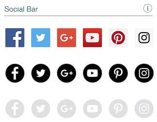 Wix Social Bar