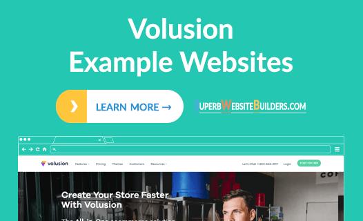 Volusion Example Websites