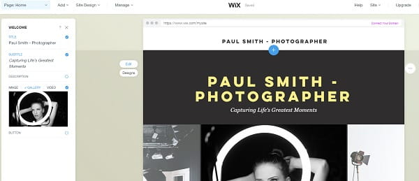 Wix ADI for Photographers