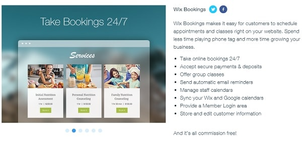 Wix Bookings