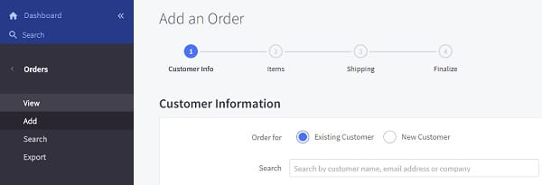 Bigcommerce Dashboard Orders