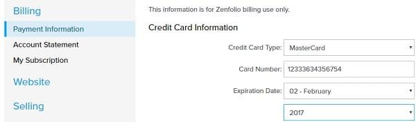 Zenfolio Billing