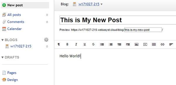 Webasyst Blog