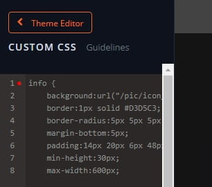 Bandzoogle CSS Editor