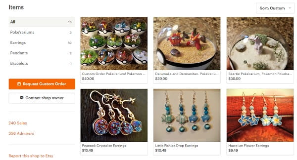 Etsy - Shop Example