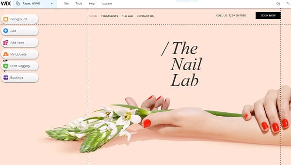 Wix Fashion Website Editor