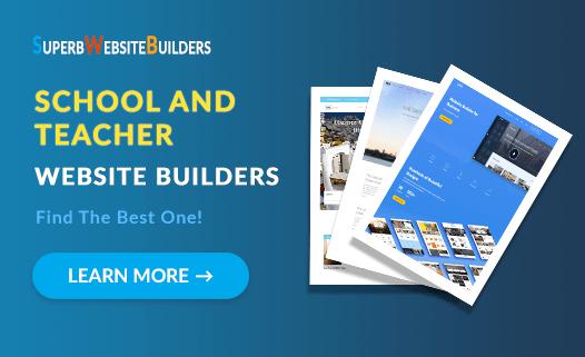Best Website Builders for Teachers and Schools - Top