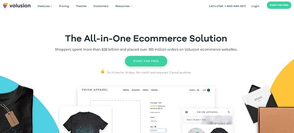 Volusion ecommerce builder
