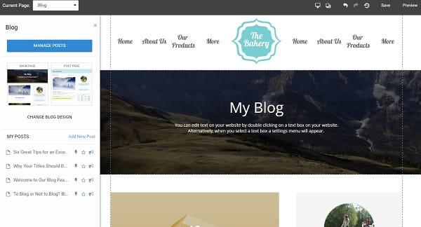 Websitebuilder-com Blog Editor